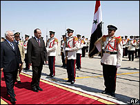 Iraqi PM Nouri Maliki in Damascus