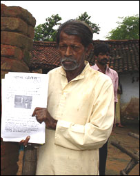 Gaurishankar Rajak with a copy of Din Dalit