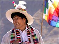 Bolivian President Evo Morales. Photograph by Noah Friedman Rudovsky