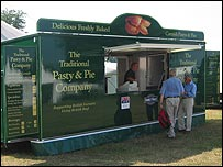 A Traditional Pasty & Pie stall at Goodwood racecourse