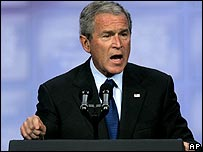 US President George W Bush. File photo