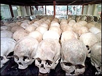 Skulls of victims of Khmer Rouge (file photo)