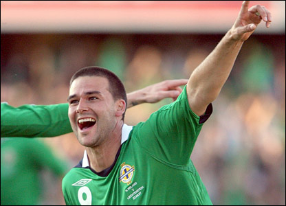 David Healy after scoring