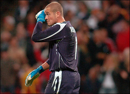 Paul Robinson after Germany's equaliser