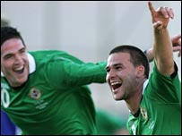 David Healy and Kyle Lafferty were both on target