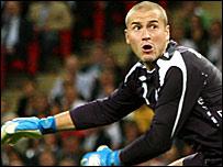 England keeper Paul Robinson