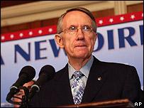 Líder demócrata del Senado, Harry Reid