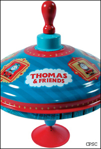 A recalled Thomas the Tank Engine spinning top (picture: Consumer Product Safety Commission)