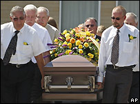 Funeral for mine rescue worker Gary Jensen - 22/08/2007
