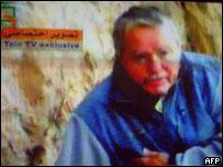 Rehén alemán en la televisión afgana