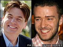 Mike Myers and Justin Timberlake