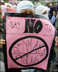 Protest in Malaysia over the Prophet Muhammad cartoons - 10/02/06