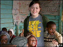 GCSE student Maddy Korn helping at a Kenyan orphanage