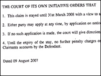 Luton county court order