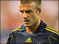 England and LA Galaxy midfielder David Beckham