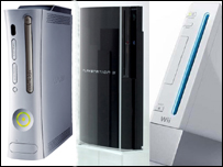 Xbox, PS3 and Wii