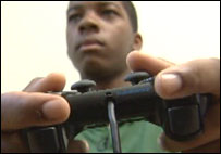 Nathaniel Pascal with game controller