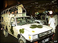 Troops at Karachi airport
