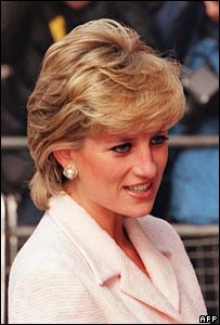 Diana on charity visit