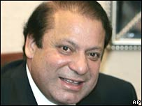 Former Pakistani Prime Minister Nawaz Sharif in London on Thursday 23 August 2007