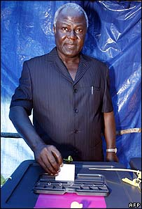 Opposition presidential candidate, Ernest Bai Koroma