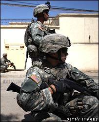 US troops on patrol in Iraq