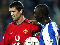 Roy Keane (left) and Andy Cole