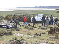 The pool being created for natterjack toads