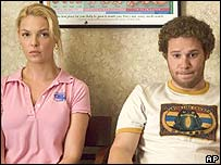 Katherine Heigl and Seth Rogan in Knocked Up