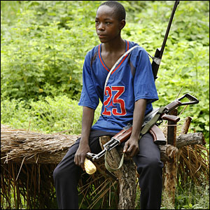 A young rebel in near Zara village, off the road from Paoua to Bozum (August 2007)