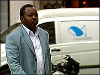 Darfur rebel, Abdul Wahid El Nur, in Paris
