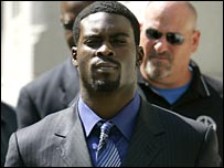 Atlanta quarterback Michael Vick