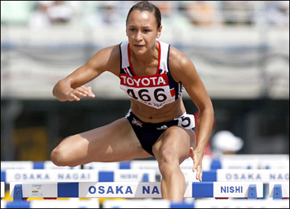 Jessica Ennis competes in the heptathlon