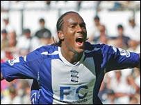 Birmingham striker Cameron Jerome