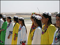 Teenagers wearing traditional dress will dance as part of a special ceremony
