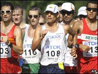 De izquierda a derecha: Francisco Javier Fern�ndez, Jefferson P�rez, Eder S�nchez