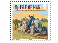 Ploughing stamp (Pic: Isle of Man Post Office)
