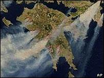 Imágenes satelitales de Grecia.