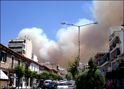 This was the sky over Athens, when the mountain of Hymettus was burning