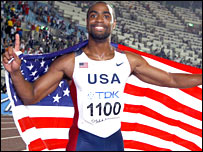 Tyson Gay wins he 100m title