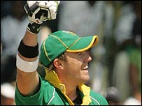 De Villiers hammered the ball to all parts in Harare