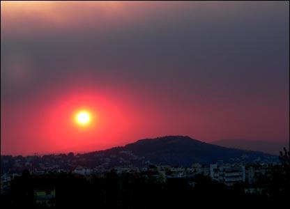Athens sun