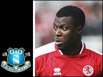Boro striker Yakubu has joined Everton