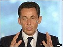 French President Nicolas Sarcozy