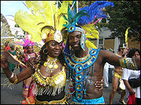 Couple at the Notting Hill Carnival