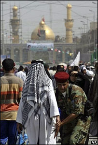 Security checks in Karbala