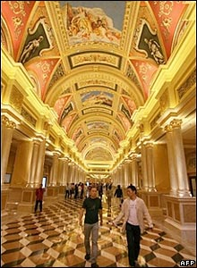 The main entrance to the Venetian resort