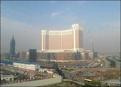 An overview of the Venetian Macao resort hotel