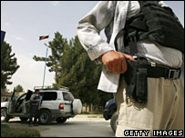Private security guard in Kabul, Afghanistan (file picture)