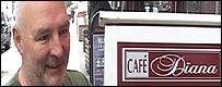 Usuario del Café Diana en Londres